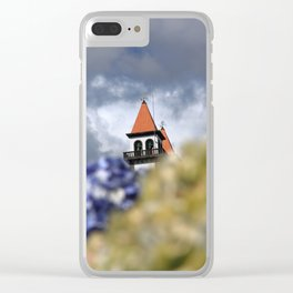 Church tower Clear iPhone Case