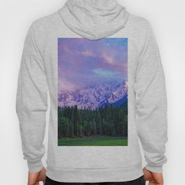 PINK AND PURPLE CLOUDS OVER THE FOREST Hoody