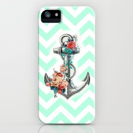 Mint Anchor iPhone Case