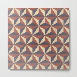 Cappuccino-Chocolate Art-Deco Pattern Metal Print