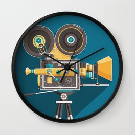 CINE: Blue Wall Clock