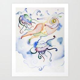 Swimmer One Art Print