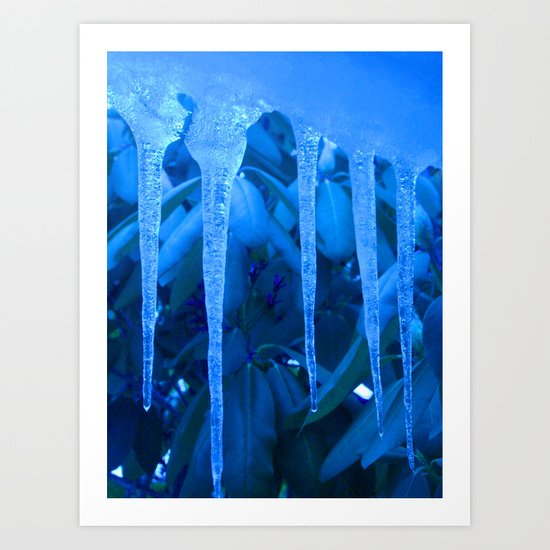 Blue Melody Art Print