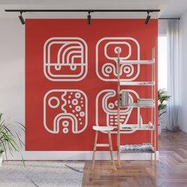 Mayan Glyphs ~ ABSTRACT Wall Mural