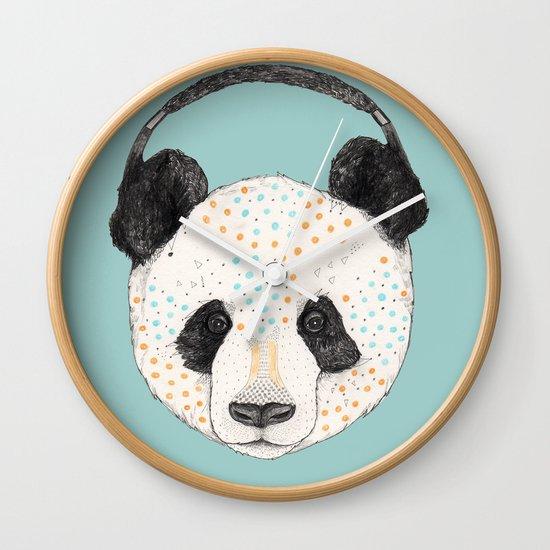 Polkadot Panda Wall Clock