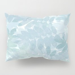 Vintage Blue Leaf Abstract Pillow Sham