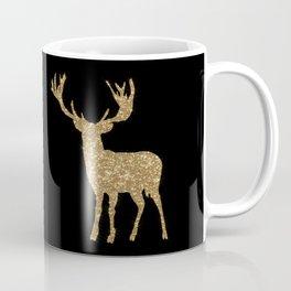 Sparkling golden deer - Wild Animal Animals Coffee Mug