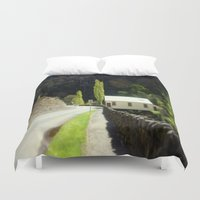 hamlet Duvet Covers featuring Walhalla Fire Station by Chris' Landscape Images & Designs