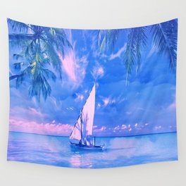 Tropical yachting Wall Tapestry
