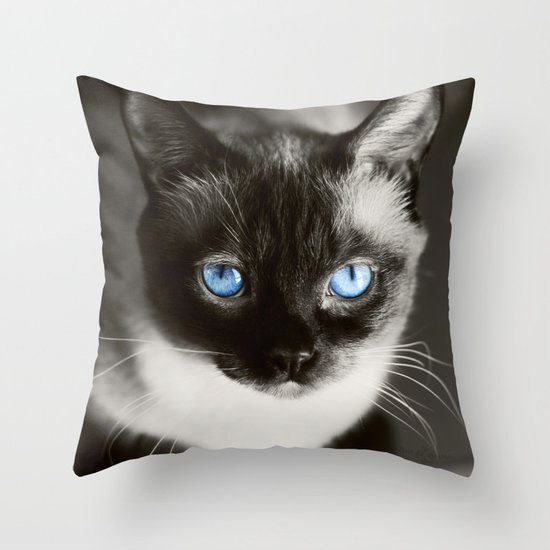 Stoney Blue Throw Pillow