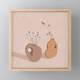 Abstract Wildflower Vases Framed Mini Art Print