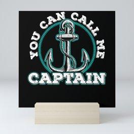 Boat Captain On The Sea Gift Idea Mini Art Print