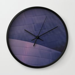 Architectural abstract of the home of the LA Philharmonic in blue and rose. Architect: Frank Gehry Wall Clock