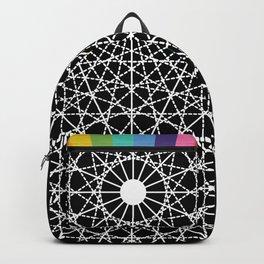 Geometric Circle Black/White/Colour Backpack