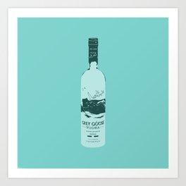 Grey Goose Blue Pop Art Art Print