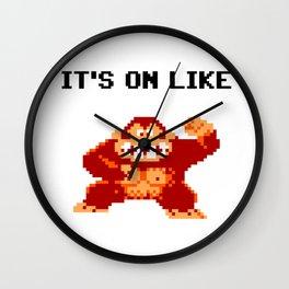 It's On Like Donkey Kong Wall Clock
