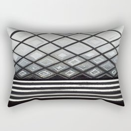 Woven Basked Diamond Ombre in Silver and Black Rectangular Pillow