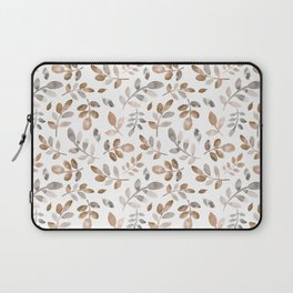 Watercolor brown fall autumn leaves floral Laptop Sleeve