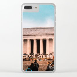 Lincoln Memorial building Clear iPhone Case