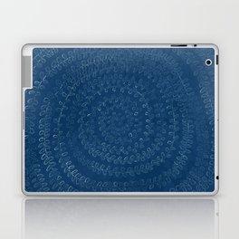 Circular Plant in Teal Laptop & iPad Skin