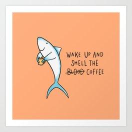 Shark Coffee Art Print