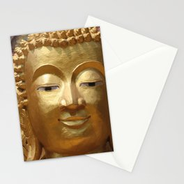 Buddha Head Illustration Design gold Stationery Cards
