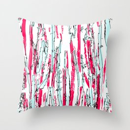 Scribbly 2 Throw Pillow
