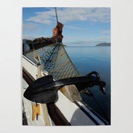 Sailing Through the Narrows Mull Scotland Poster