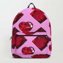 RUBY JEWELED  VALENTINE RUBY HEARTS  DESIGN Backpack