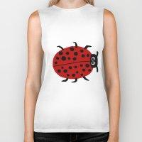 ladybug Biker Tanks featuring Ladybug by Stephanie Cole CREATIONS