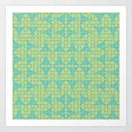 Simple Bulbs Pinwheels Art Print