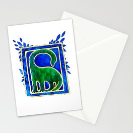 Brontosaurus Painting Stationery Cards