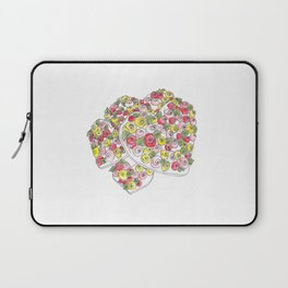 Iced Flower Hearts Laptop Sleeve