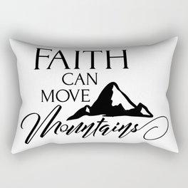 Move Mountains Rectangular Pillow