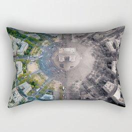 Arc De Triomphe in Paris - Before & After Lockdown Creative Artwork Rectangular Pillow