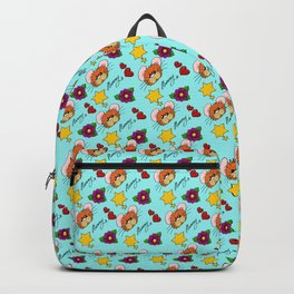 Hammy Pattern in Sky Blue Backpack