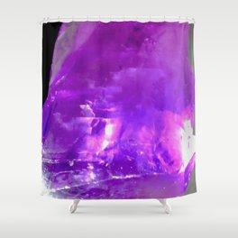 Crystalline Structure Shower Curtain