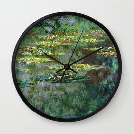 1904-Claude Monet-Le Bassin des Nympheas-87 x 91 Wall Clock