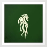 gondor Art Prints featuring Rohan Horse heraldry by Nxolab