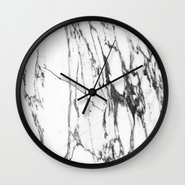 Classic White Marble #1 #decor #art #society6 Wall Clock