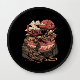 Dragon's Ramen Wall Clock