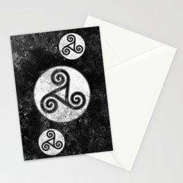 Trisquel Black & White V Iphone Stationery Cards