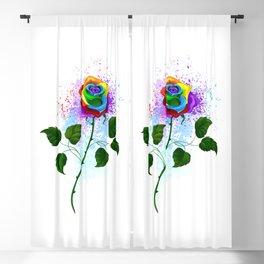 Rainbow Rose Blackout Curtain