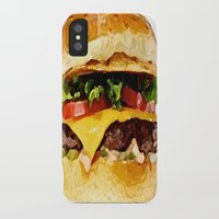 burger iPhone & iPod Cases featuring Burger by Owl Things