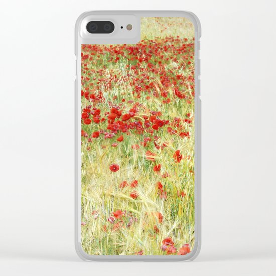 """""""Abstract poppies"""" Clear iPhone Case"""