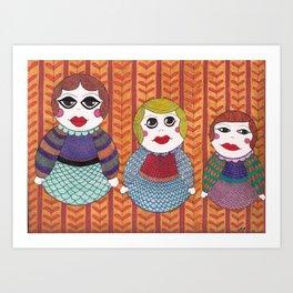Russian nesting dolls Art Print
