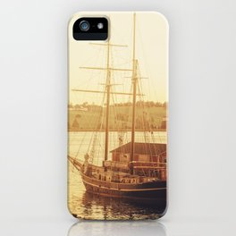 Tall Ship on Waterfront iPhone Case