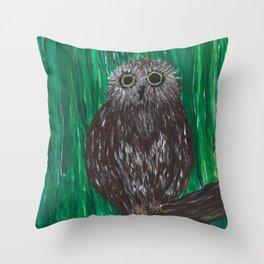 Zippy, The Owl Throw Pillow