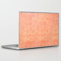 watercolour Laptop & iPad Skins featuring Stockinette Orange by Elisa Sandoval