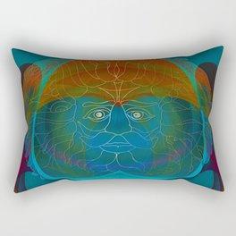 Patchwork Optical Illusion Abstract Rectangular Pillow